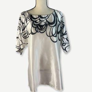 Lane Bryant Scoop Neck Polyester Top 14/16 White